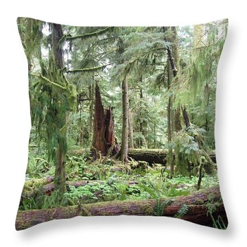 Throw Pillow featuring the photograph Cathedral Grove by Marilyn Wilson