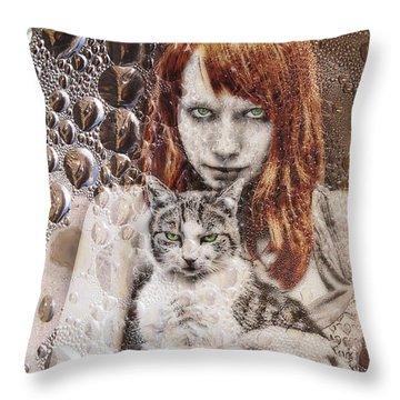 Cats Throw Pillow by Joachim G Pinkawa