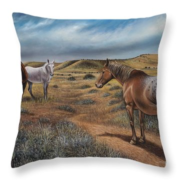Cayuse Country Throw Pillow by Ricardo Chavez-Mendez