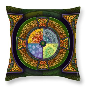 Celtic Elements Throw Pillow