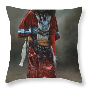 Ceremonial Red Throw Pillow