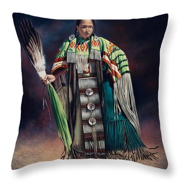 Ceremonial Rhythm Throw Pillow
