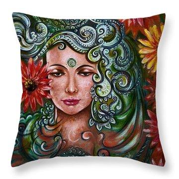 Chakra Sadhna Throw Pillow