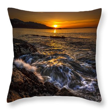 Chamoso Point In Ares Estuary Galicia Spain Throw Pillow
