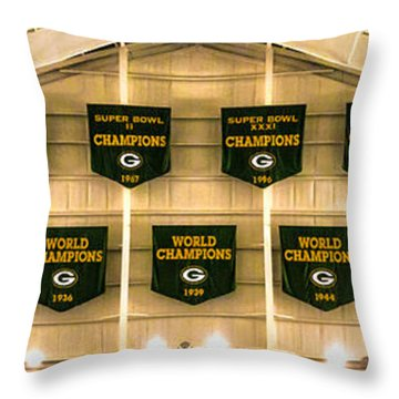 Championship Banners Throw Pillow by James  Meyer