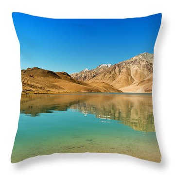 Chandratal Lake Throw Pillow