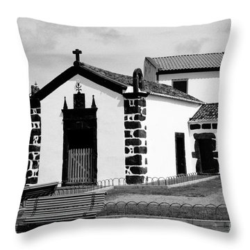 Chapel In Azores Islands Throw Pillow by Gaspar Avila