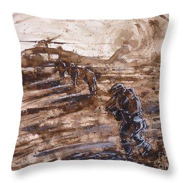 Charlie Mike Throw Pillow by Zaira Dzhaubaeva