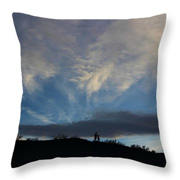 Throw Pillow featuring the photograph Chase The Moonlight by Tammy Espino