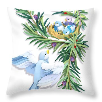 Checking In Throw Pillow