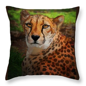 Cheetah Mama Throw Pillow