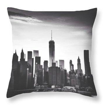 Chiaroscuro City Throw Pillow