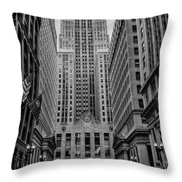 Chicago Board Of Trade Throw Pillow by Mike Burgquist
