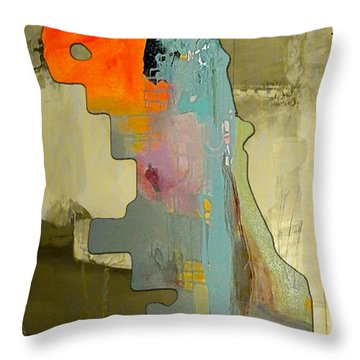 Chicago Map And Skyline Watercolor Throw Pillow by Marvin Blaine