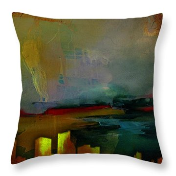 Chicago Skyline Watercolor Throw Pillow by Marvin Blaine