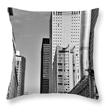 Chicago State Street - That Great Street Throw Pillow by Christine Till