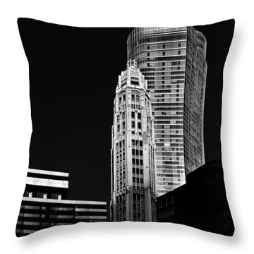 Chicago - Trump International Hotel And Tower Throw Pillow by Christine Till