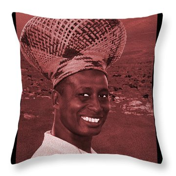Chief Of The Desert Wf  Throw Pillow