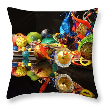 Chihuly-14 Throw Pillow by Dean Ferreira
