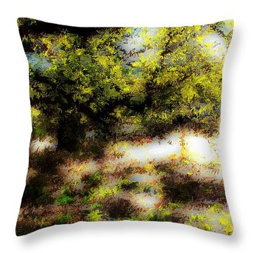 Chime Tree Throw Pillow