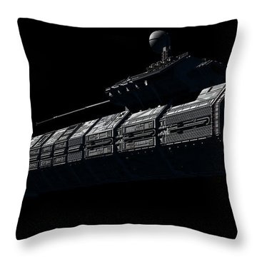 Chinese Orbital Weapons Platform Throw Pillow by Rhys Taylor