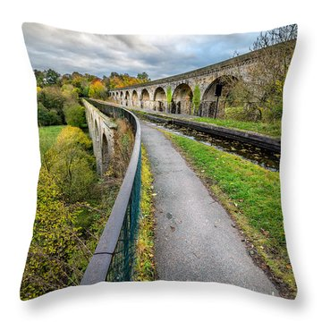 Chirk Aqueduct Throw Pillow by Adrian Evans