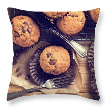 Choc Chip Muffins Throw Pillow