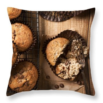 Chocolate Chip Muffins Throw Pillow