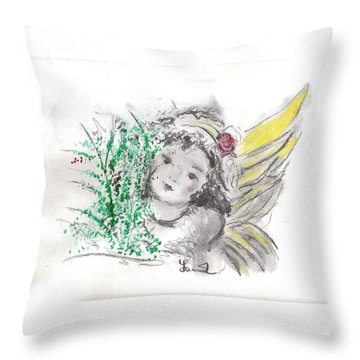 Christmas Angel Throw Pillow