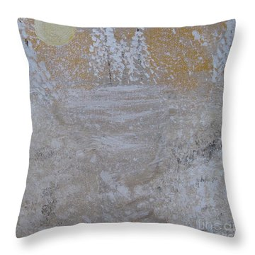 Christmas Card No.2 Throw Pillow by Nancy Pace