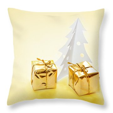 Christmas Decorations Throw Pillow by Michal Bednarek