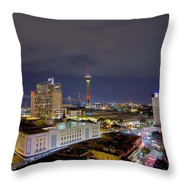 Christmas In San Antonio Throw Pillow