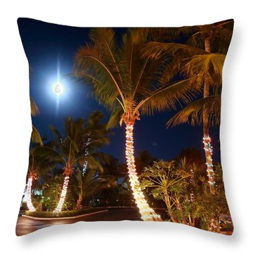 Christmas Palms Throw Pillow