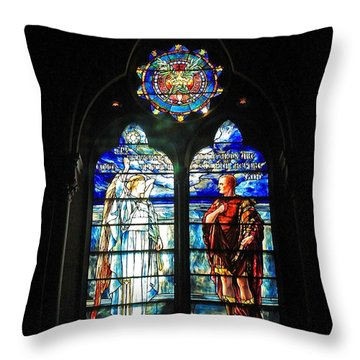 Church Of The Covenant Stained Glass 11 Throw Pillow