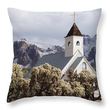 Elvis Presley Chapel Throw Pillow