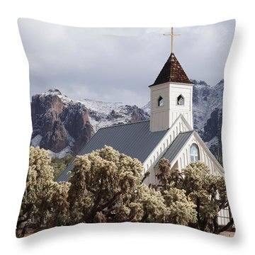 Elvis Presley Chapel Throw Pillow