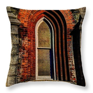 Churches On Church Street Throw Pillow