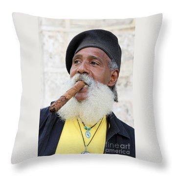 Cigar Man Throw Pillow