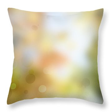 Circles Background Throw Pillow by Les Cunliffe