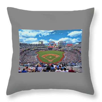 Citi Field 2 - Home Of The N Y Mets Throw Pillow