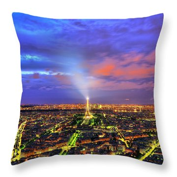 City Of Lights Throw Pillow by Midori Chan