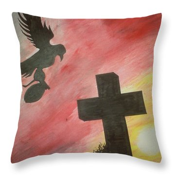 City Undead Throw Pillow by Justin Moore