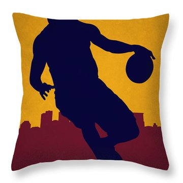 Cleveland Cavaliers Lebron James Throw Pillow by Joe Hamilton