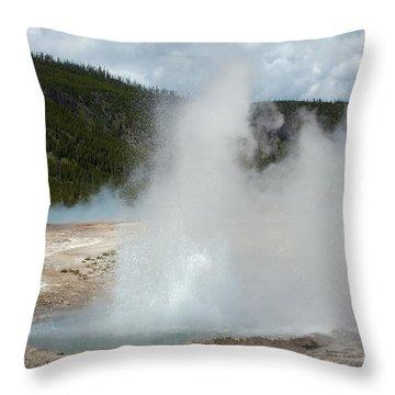 Cliff Geyser Throw Pillow
