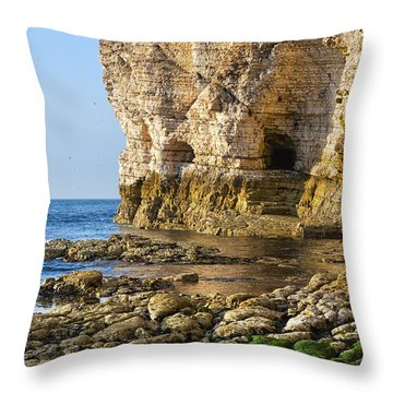 Cliff Side Throw Pillow by Svetlana Sewell