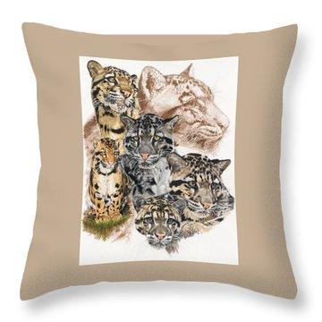 Cloudburst Throw Pillow by Barbara Keith