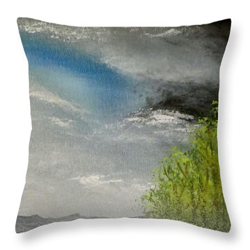 Cloudy Sky Throw Pillow by Tim Townsend