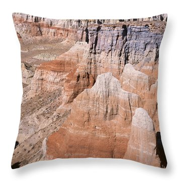Coal Mine Canyon 1-v Throw Pillow