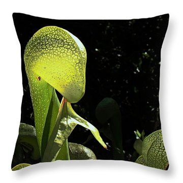 Cobra Lily Throw Pillow by Nick Kloepping