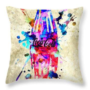 Coca-cola Throw Pillow by Daniel Janda